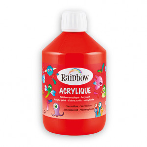 Rainbow Acrylfarbe, 500 ml, zinnoberrot