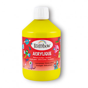 Rainbow Acrylfarbe, 500 ml, gelb
