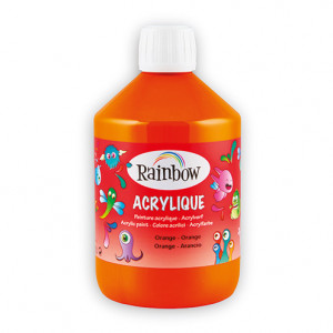 Rainbow Acrylfarbe, 500 ml, orange
