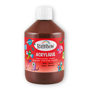 Rainbow Acrylfarbe, 500 ml, braun