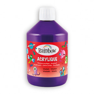 Rainbow Acrylfarbe, 500 ml, violett